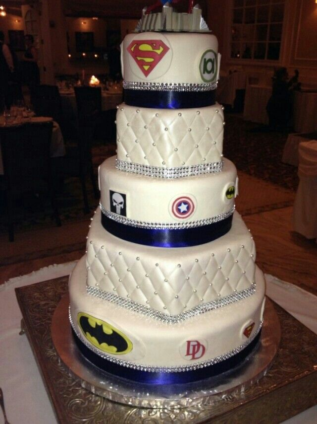 Superman Side Of Our Wedding Cake