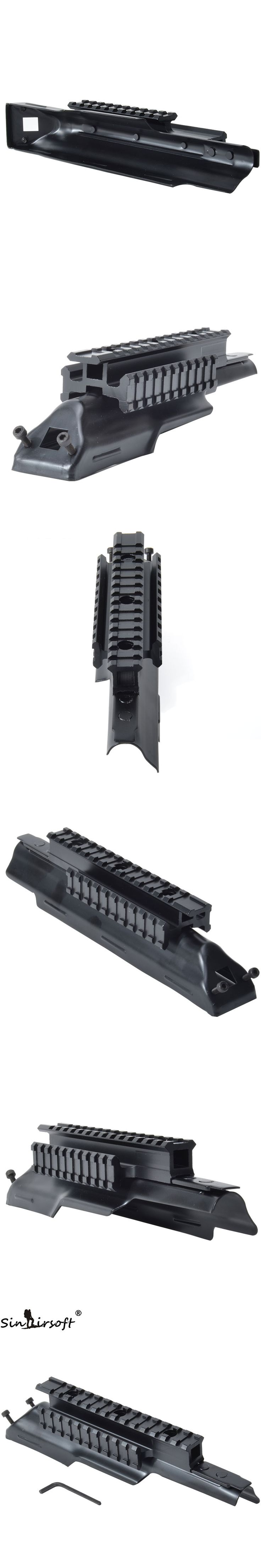 Tactical AK Receiver Triple 20mm Picatinny & Weaver Rail Top Scope Mount System Cover Fit 47 & 74