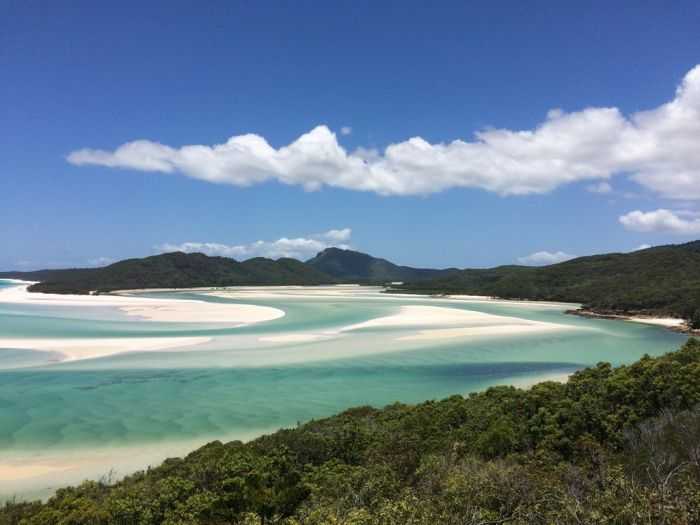Swirling beaches, Hill Inlet, Whitsunday Islands, Queensland, Australië