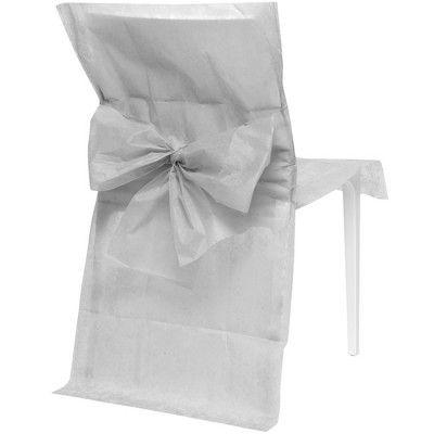 Housse de chaise grise x10 -