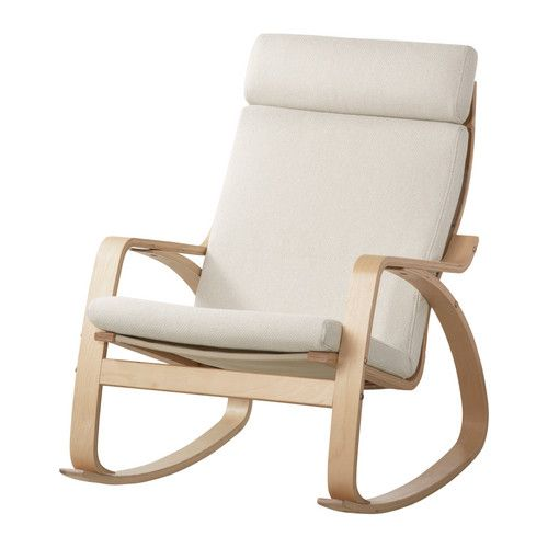 POÄNG Rocking chair IKEA The cover is easy to keep clean as it is removable and can be machine washed.: Ikea Easy, Birches, Rocking Chair Ikea, Rocking Chairs, Poäng Rocking Chair, Nursery Ideas, Beige 199 00