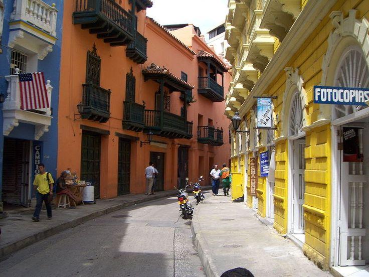 Colonial streets in Cartagena