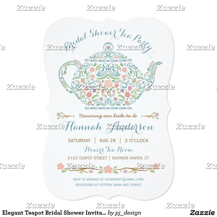 229 best wedding bridal shower tea party invitations images on elegant teapot bridal shower invitation filmwisefo Gallery