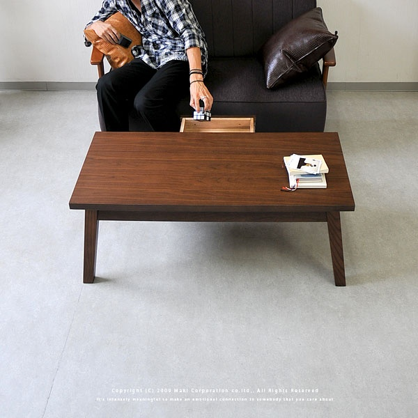 ローテーブル センターテーブル コーヒーテーブル 【送料無料】J.パルスオリジナル 引き出し付きローテーブル ウォールナット 木製 GALLON(ガロン)【楽天市場】
