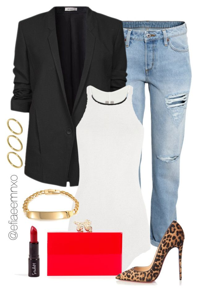"""Preppy Chic"" by efiaeemnxo ❤ liked on Polyvore featuring H&M, Helmut Lang, Rick Owens, Bling Jewelry, ASOS, Charlotte Olympia, Christian Louboutin, women's clothing, women and female"