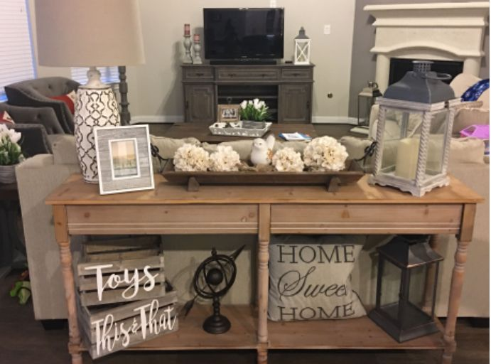 Farmhouse Decor For Couch Console Table Table Decor Living Room Sofa Table Decor Farmhouse Console Table