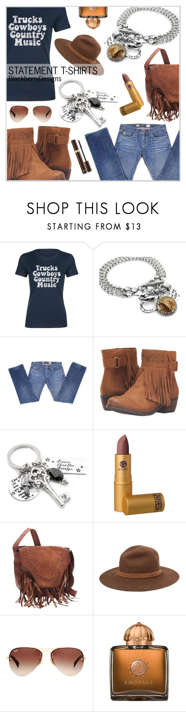 """""""Make A Statement"""" by shambala-379 ❤ liked on Polyvore featuring Rodeo Rags, AG Adriano Goldschmied, Not Rated, Lipstick Queen, SHARO, rag & bone, Ray-Ban, AMOUAGE, Tom Ford and country"""