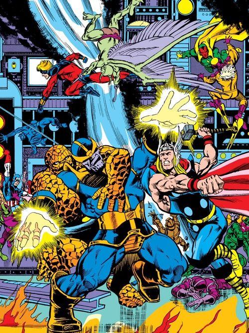 Avengers vs Thanos by Jim Starlin.