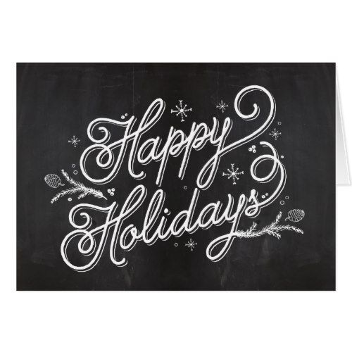 Holiday Lettering Greeting Card - Happy Holidays