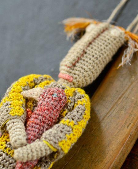 Sophie Digard / alchemille linen necklace (FICELLE/AGRUM)