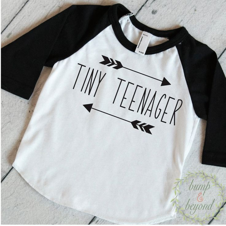 Kids Fashion Clothing. This shirt makes a stylish outfit or photo prop! We at Bump and Beyond Designs love to help you celebrate life's precious moments! This American Apparel raglan shirt is super so