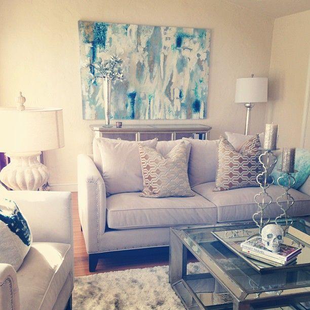 Z gallerie pauline sofa blue refil sofa for Z gallerie living room ideas