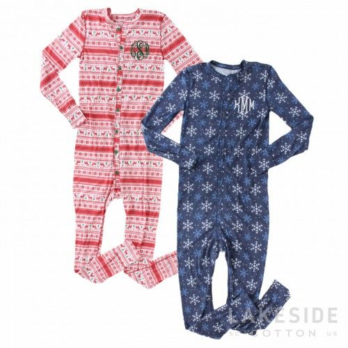 Monogrammed Holiday Lounge Suit | Lakeside Cotton
