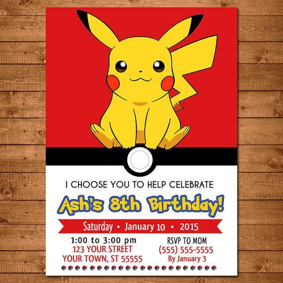 Pokemon Pikachu Invitation Pokemon Pikachu by NineLivesNotEnough