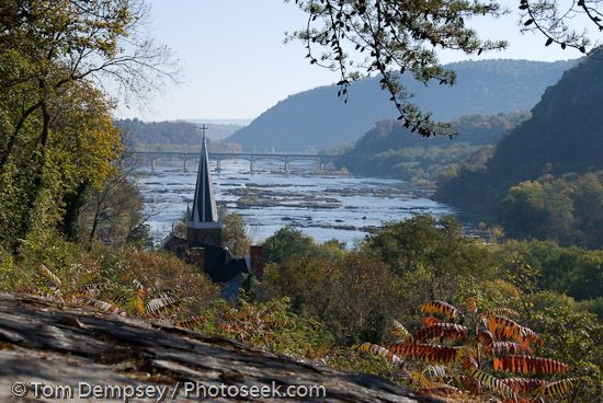 Harpers Ferry, West Virginia I love this view of Harpers Ferry!!! It is actually above the town, and you can see three states from there!!!