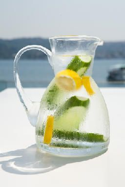 Fruit Infused Water Recipes  CUCUMBER LEMON MEDLEY