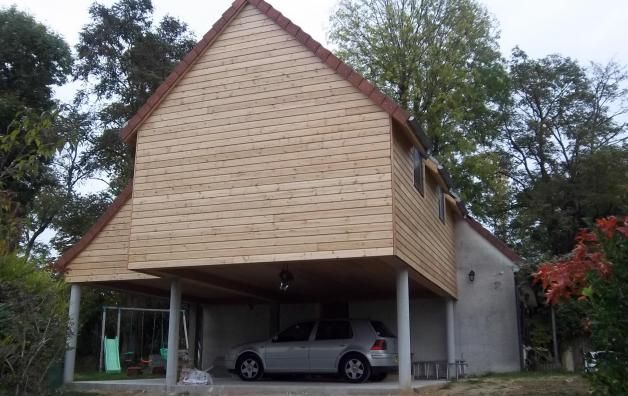 1000 images about extension bois on pinterest red cedar chalets and construction for Construction bois yvelines