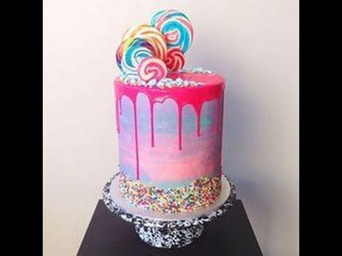 Loaded Watercolour Drip Cake - YouTube