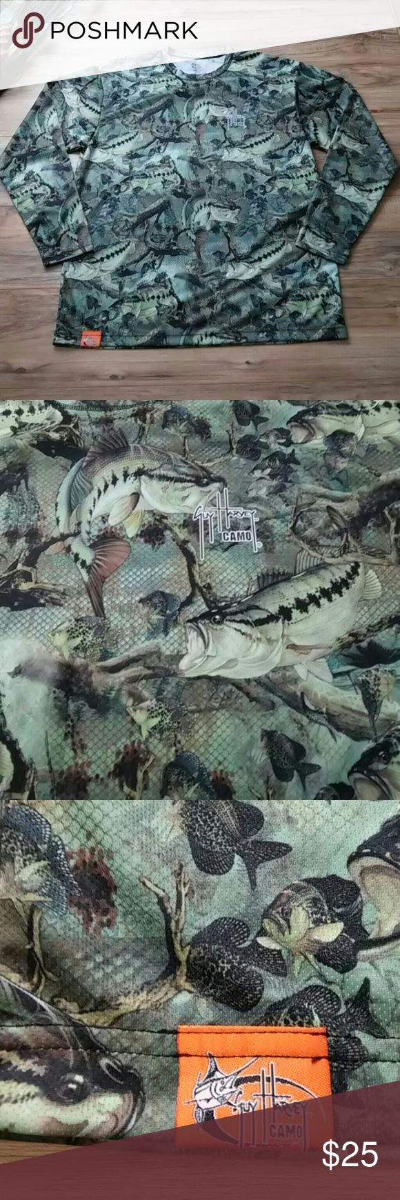 "Guy Harvey Camo mens XL Guy Harvey Camo mens XL. This is a thin long sleeve perfect for any person. This is new with out tag l. Lay flat pit to pit is 25"" top. To bottom is 32"" Guy Harvey Shirts Tees - Long Sleeve"