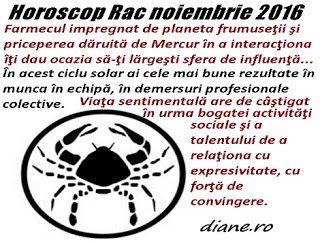 diane.ro: Horoscop Rac noiembrie 2016