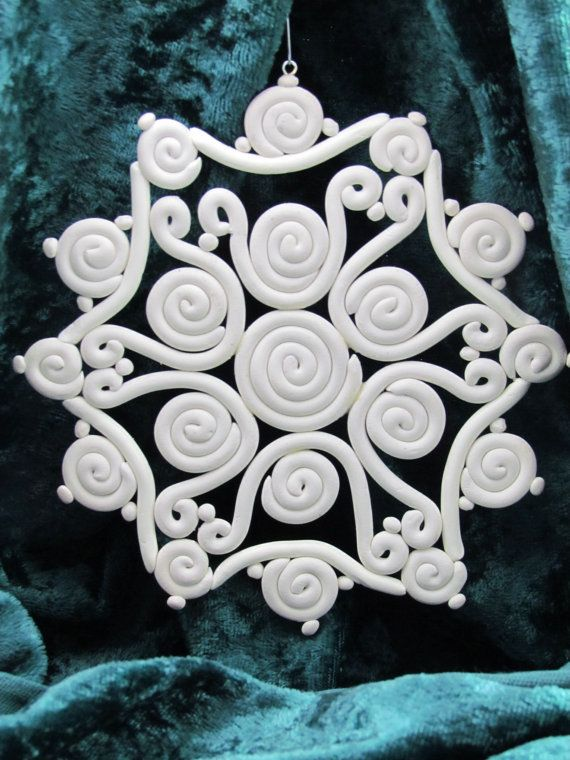 Extruder Snowflake Christmas Ornament by ClayHoliday on Etsy, $8.00