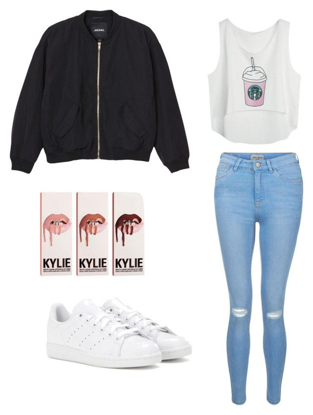 """Summer look"" by yasmin-bach-rasmussen on Polyvore featuring Monki, adidas and New Look"