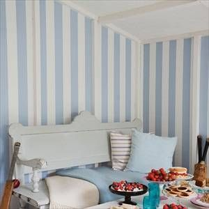 Cole And Son Glastonbury Stripe Wallpaper | 2018 Designer Wallpapers | TM  Interiors An Exuberant U0027tentu0027 Stripe Wallpaper Produced On Pale Ivory  Backgrounds, ...