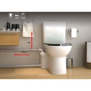 Installation de sanibroyeur sfa, water matic, monobloc, wc broyeur, toilette sanibroyeur