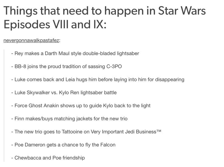 Things that need to happen in Star Wars Episodes VIII and IX | YES TO THE DOUBLE BLADED LIGHTSABER