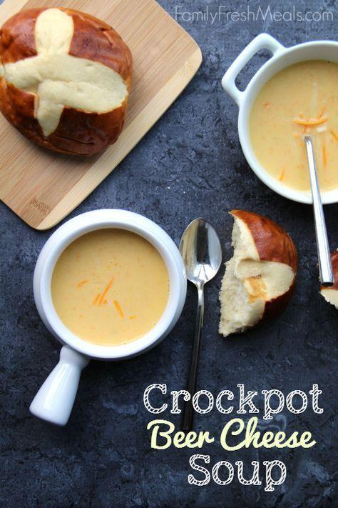 Crockpot Beer Cheese Soup - http://FamilyFreshMeals.com
