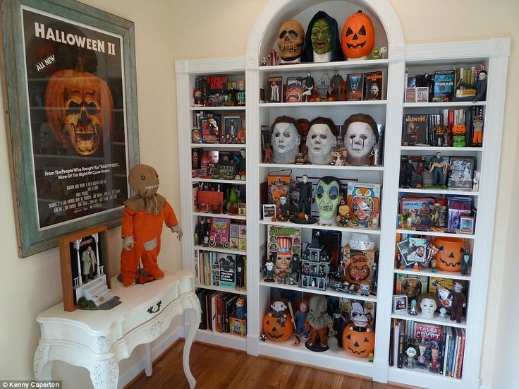 The couple moved in to their personal horror house in March 2009, where they have since filled it with antiques to represent the era of its source of inspiration - as well as plenty of horror decor