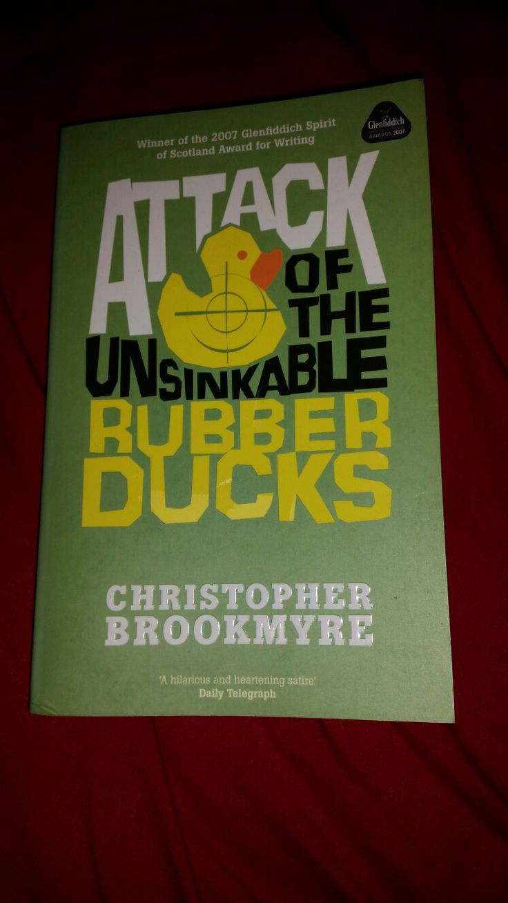 (A book in a genre you usually avoid.) Attack Of The Unsinkable Rubber Ducks - Christopher Brookmyre, basically it isn't fantasy.