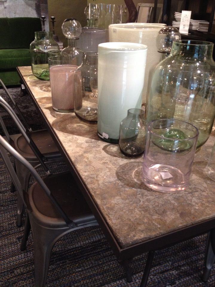 Stone, metal and glass.. Posh Living