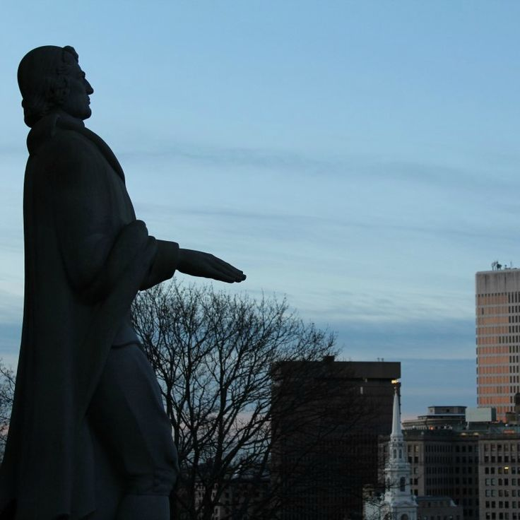 Roger Williams overlooking the city of Providence #startthedaywithsomethingbeautiful