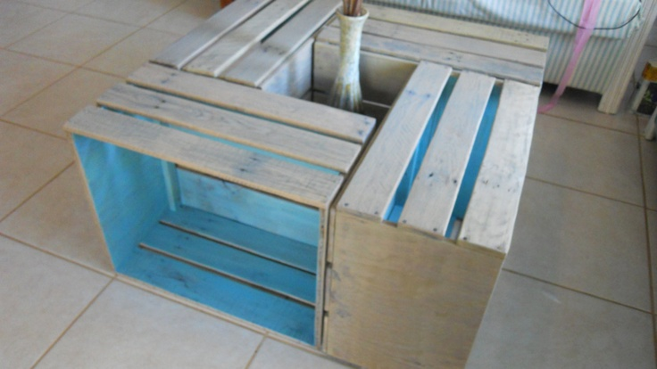 pallet furniture | Crate Coffee Table R Cubes Pallet Furniture by DavidnVicki