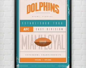 Miami Dolphins Poster Print on Etsy. Shop. Man Cave. Gifts for Dad. Gifts for Him. NFL Artwork. Football. Bar. Father's Day. Men's. Buy. Sale.