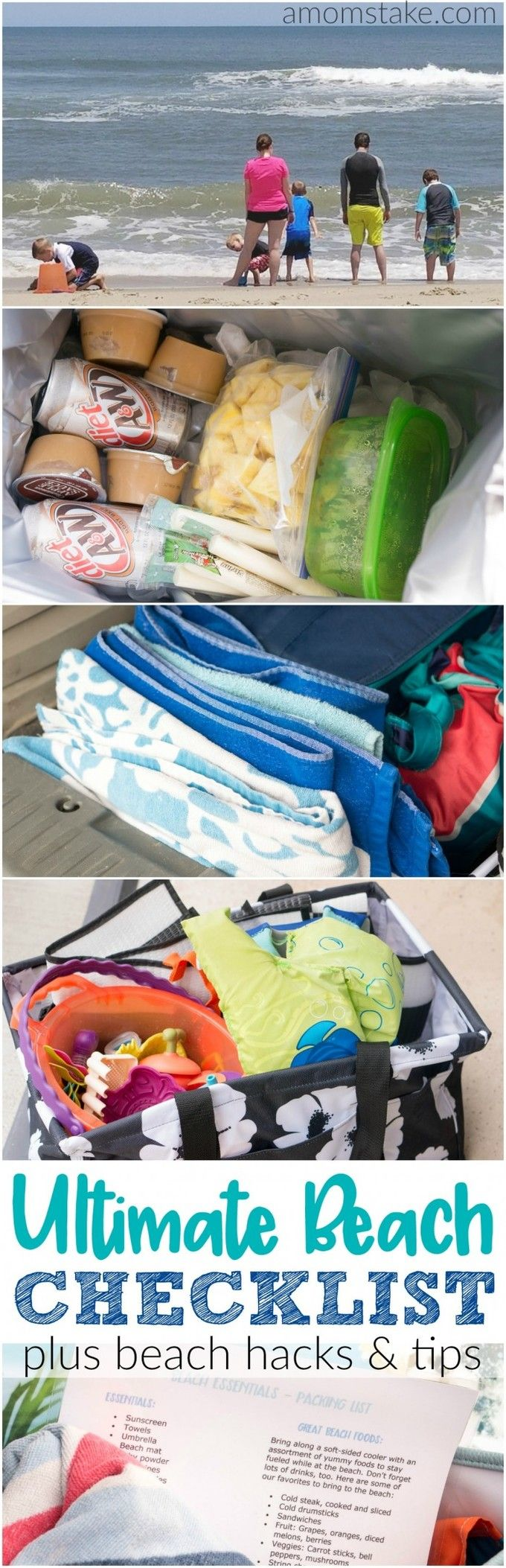 The ultimate guide to get you ready for the beach! What to pack checklist to make your packing go quick and easy plus awesome tips to help you get your car organized and make beach clean-up easier!