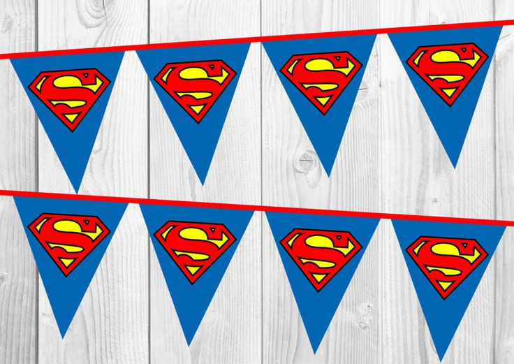 superman birthday banner  bunting  nursery decoration  party