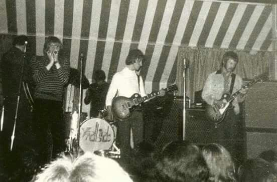 Jeff Beck and Eric Clapton on stage with The Yardbirds