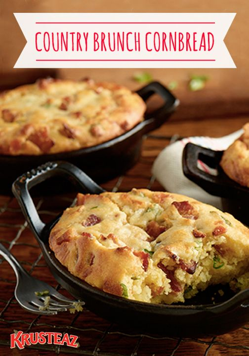 You just can't beat comfort food with a Southern, country, home-cooked twist. Wow your family or your weekend houseguests with this Country Brunch Cornbread for breakfast. With savory onion, sausage, bacon, and cheese, this insanely easy-to-make recipe is a must-try.