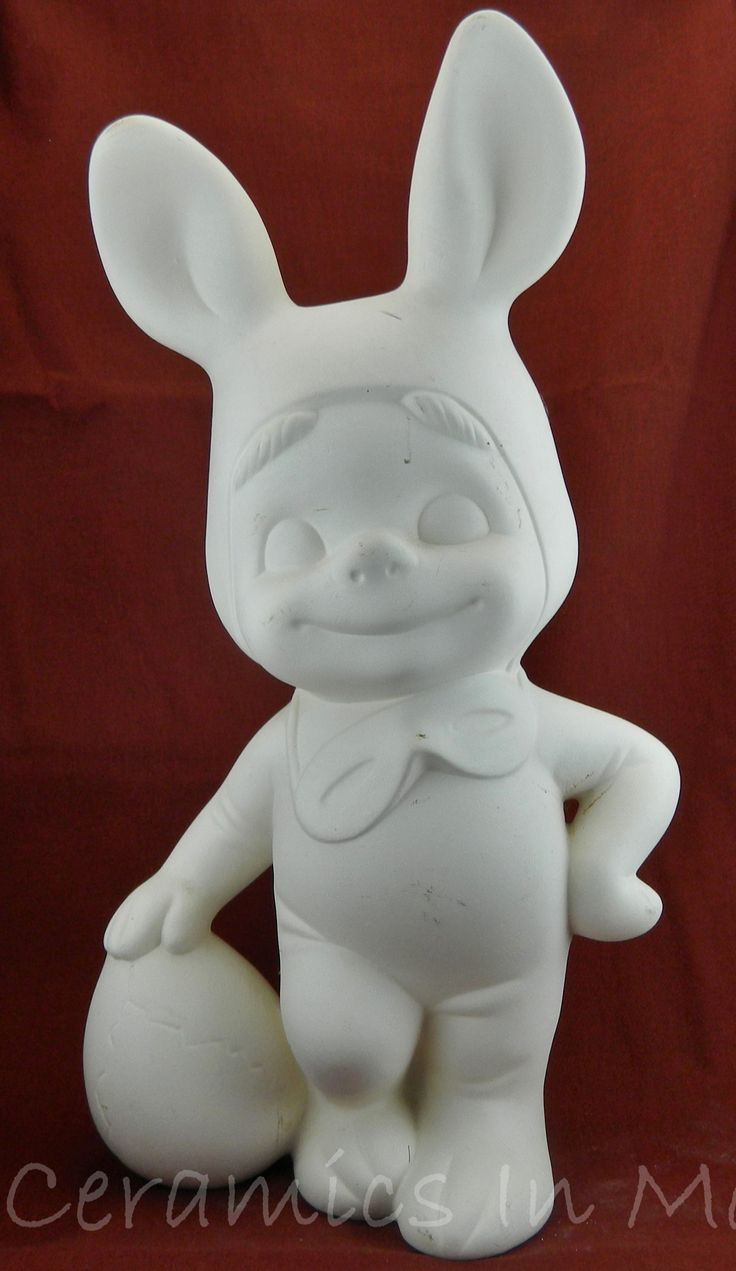54 best smiley ceramics images on pinterest ceramic bisque 1600 smiley boy in easter bunny costume with easter egg ready to paint ceramic bisque dailygadgetfo Choice Image