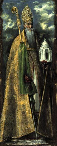 """Título: """"SAN AGUSTÍN"""". Se encuentra actualmente en el Museo de Santa Cruz de Toledo y está cedido a este museo por la Paroquia de San Nicolás de la misma ciudad y formaba parte del retablo de Santa Bárbara. Actualmente se encuentra en estado de restauración."""