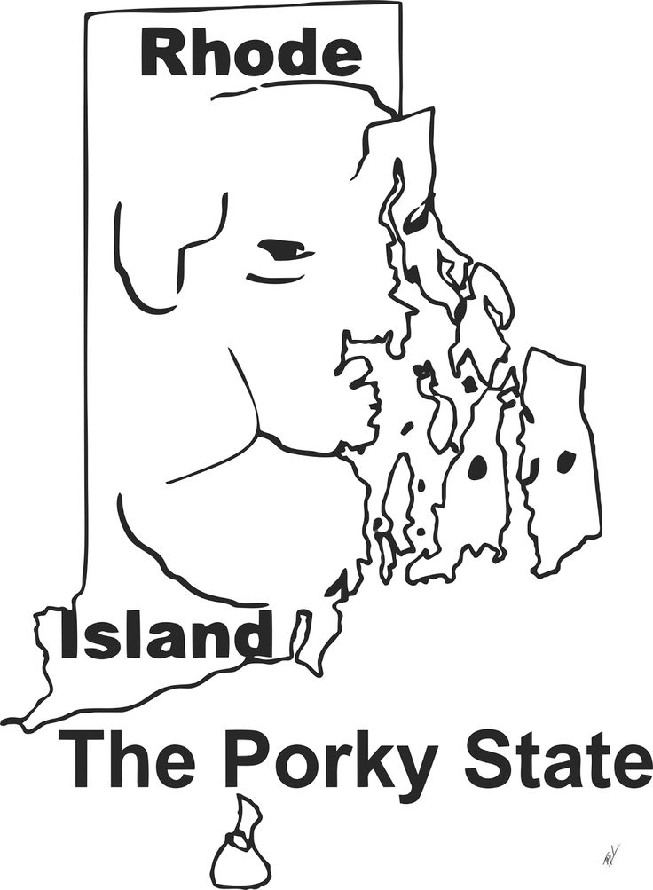 Funny maps: A funny map of Rhode Island