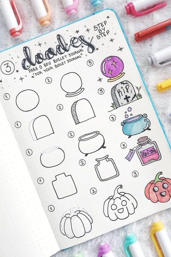 Best Bullet Journal Doodle Ideas For Halloween & Fall 2019