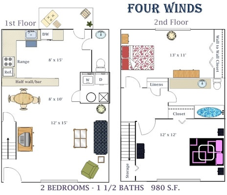 Bedroom Apartments For Rent Four Winds Drive