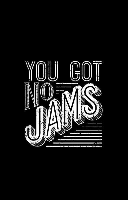 You Got No Jams - BTS Distressed Typography (White)