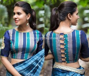 blouse back neck designs for pattu sarees