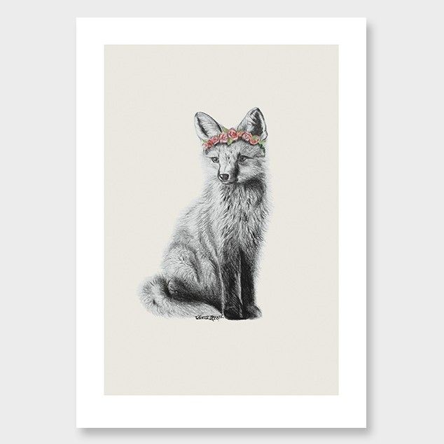 Fox Art Print by Olivia Bezett