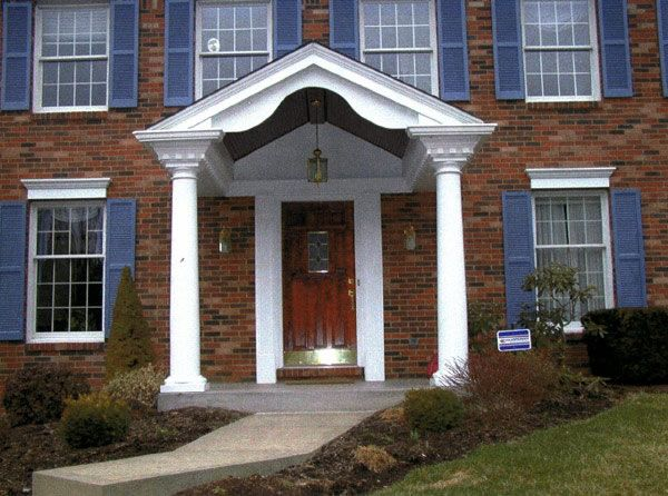 17 best images about front porch columns on pinterest for House plans with pillars