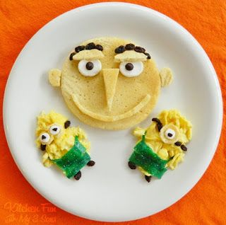 Kitchen Fun With My 3 Sons: A Despicable Me Breakfast!  Gru and minion food.